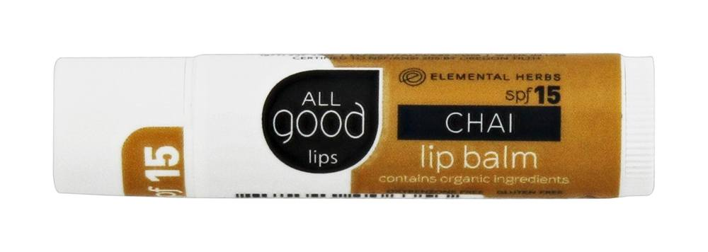 Elemental Herbs - All Good Lips Balm Chai 15 SPF - 4.25 Grams