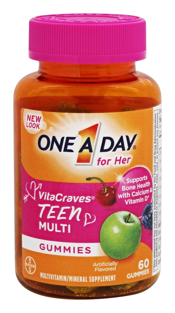 One A Day - Teen For Her VitaCraves - 60 Gummies