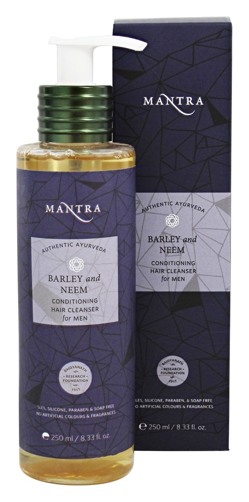 Mantra - Authentic Ayurveda Conditioning Hair Cleanser for Men Barley and Neem - 8.33 oz.