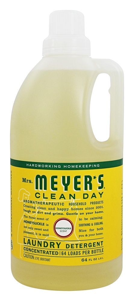Mrs. Meyer's - Clean Day Laundry Detergent Concentrated 64 Loads Honeysuckle - 64 oz.