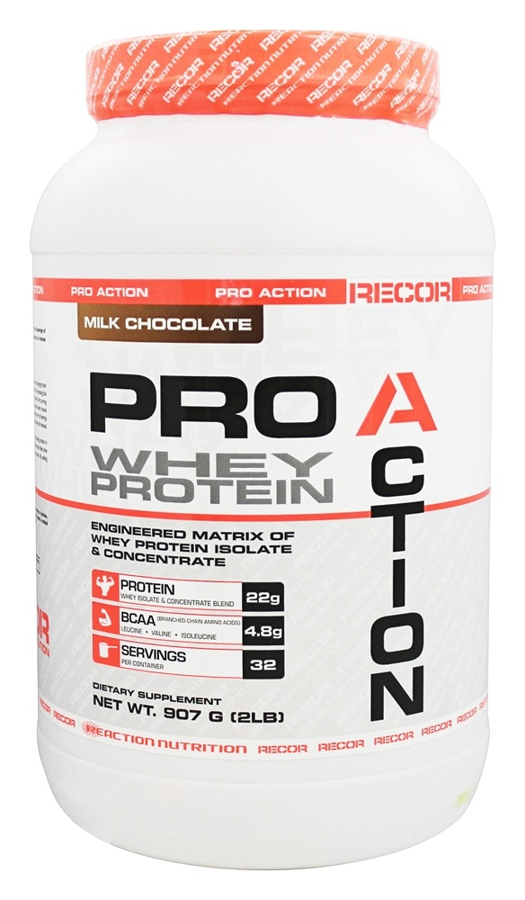 Recor - Pro Action Whey Protein Milk Chocolate - 2 lbs.
