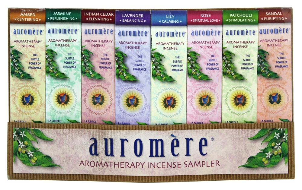Auromere - Aromatherapy Incense Sampler - 8 Piece(s)