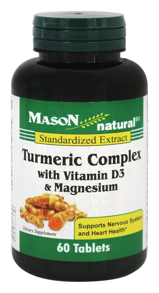 Mason Natural - Turmeric Complex with Vitamin D3 & Magnesium - 60 Tablets