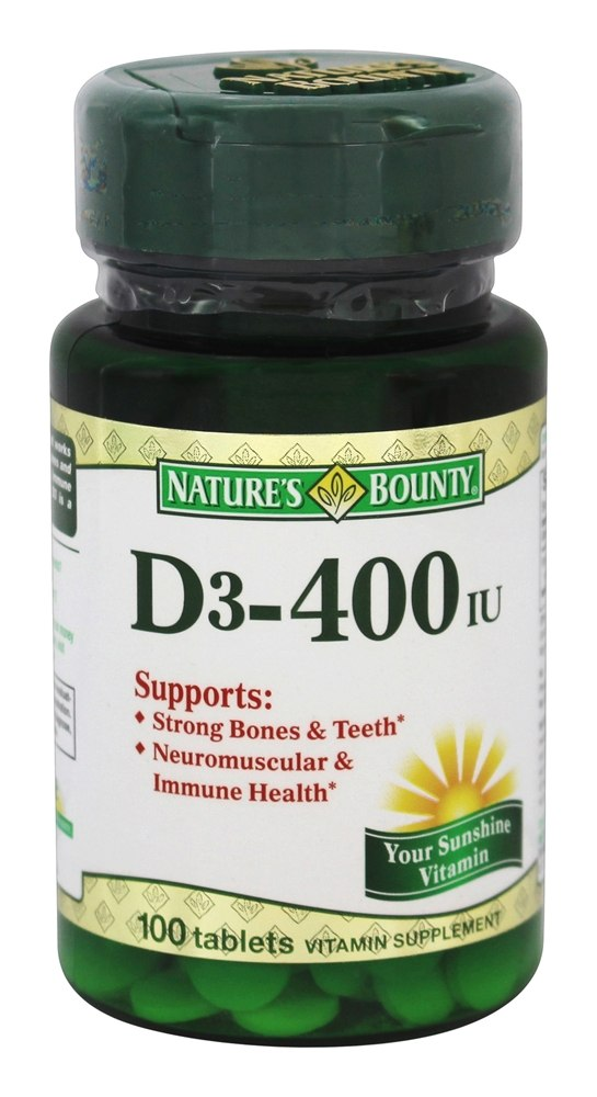 Nature's Bounty - Vitamin D3 400 IU - 100 Tablet(s)