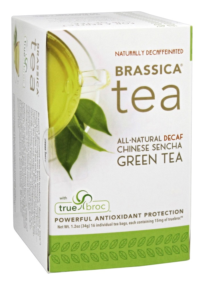 Brassica - All Natural Decaf Chinese Sencha Green Tea with truebroc - 16 Tea Bags