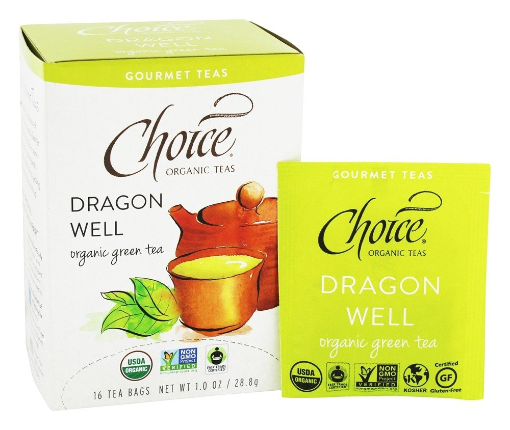 Choice Organic Teas - Gourmet Green Tea Dragon Well - 16 Tea Bags