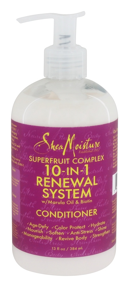 Shea Moisture - Superfruit Complex Conditioner 10-In-1 Renewal System with Marula Oil & Biotin - 13 oz.