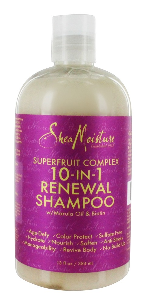 Shea Moisture - Superfruit Complex Shampoo 10-In-1 Renewal System with Marula Oil & Biotin - 13 oz.
