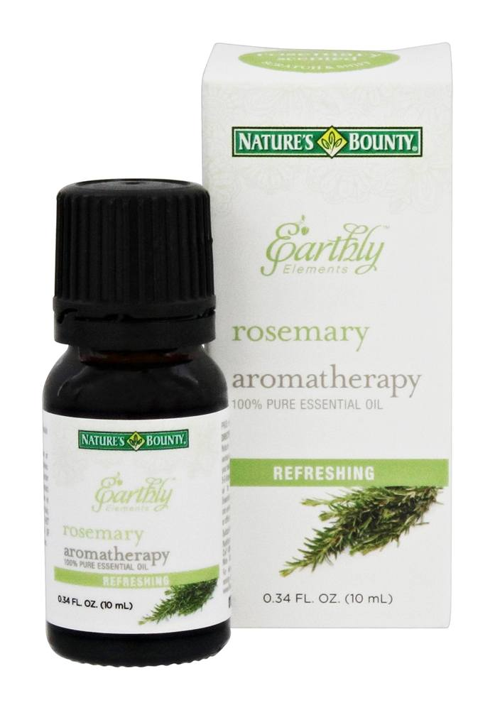 Nature's Bounty - Earthly Elements Rosemary Essential Oil - 0.34 oz.