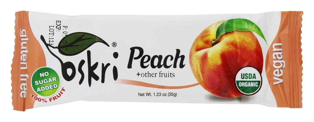 Oskri - Gluten Free Fruit Bar Peach - 1.23 oz.