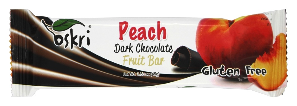 Oskri - Gluten Free Dark Chocolate Fruit Bar Peach - 1.58 oz.