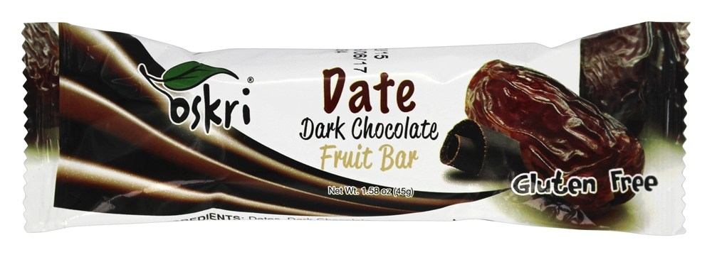 Oskri - Gluten Free Dark Chocolate Fruit Bar Date - 1.58 oz.