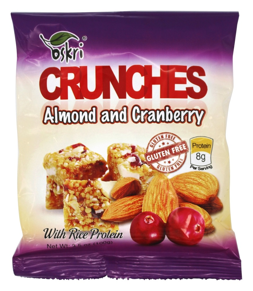 Oskri - Gluten Free Crunches Almond and Cranberry - 3.5 oz.