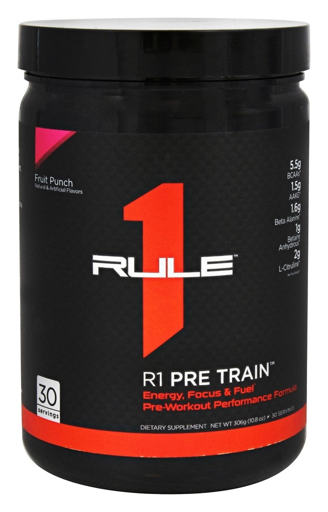 Rule One Proteins - R1 Pre Train Pre-Workout Fruit Punch - 10.8 oz.