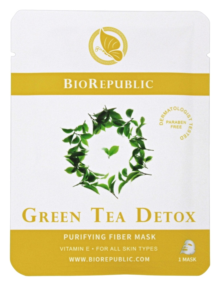 BioRepublic SkinCare - Purifying Fiber Mask Green Tea Detox