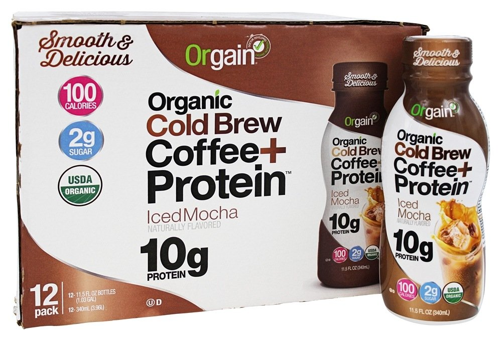 Orgain - Organic Ready to Drink Cold Brew Coffee + Protein Iced Mocha - 12 Pack