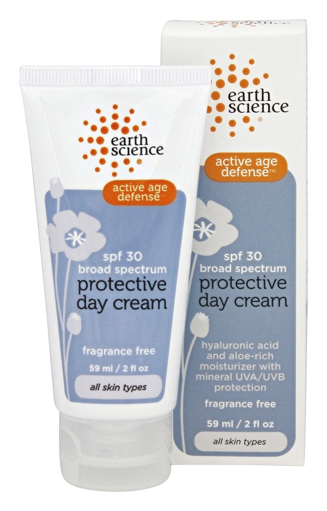 Earth Science - Protective Day Cream Broad Spectrum Active Age Defense Fragrance Free 30 SPF - 2 oz.
