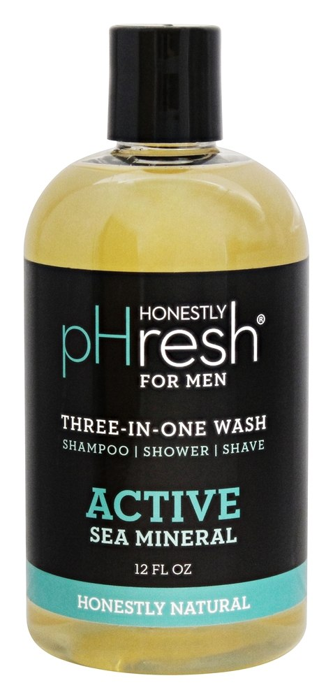 pHresh - Three in One Wash For Men Active Sea Mineral - 12 oz.