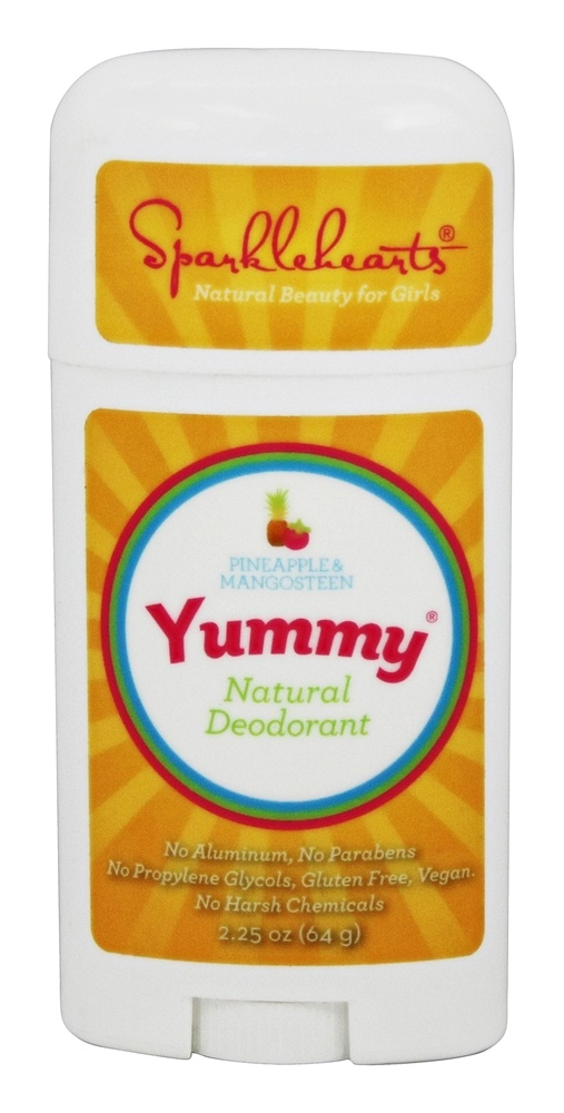 Sparklehearts - Yummy Natural Deodorant Pineapple and Mangosteen - 2.25 oz.