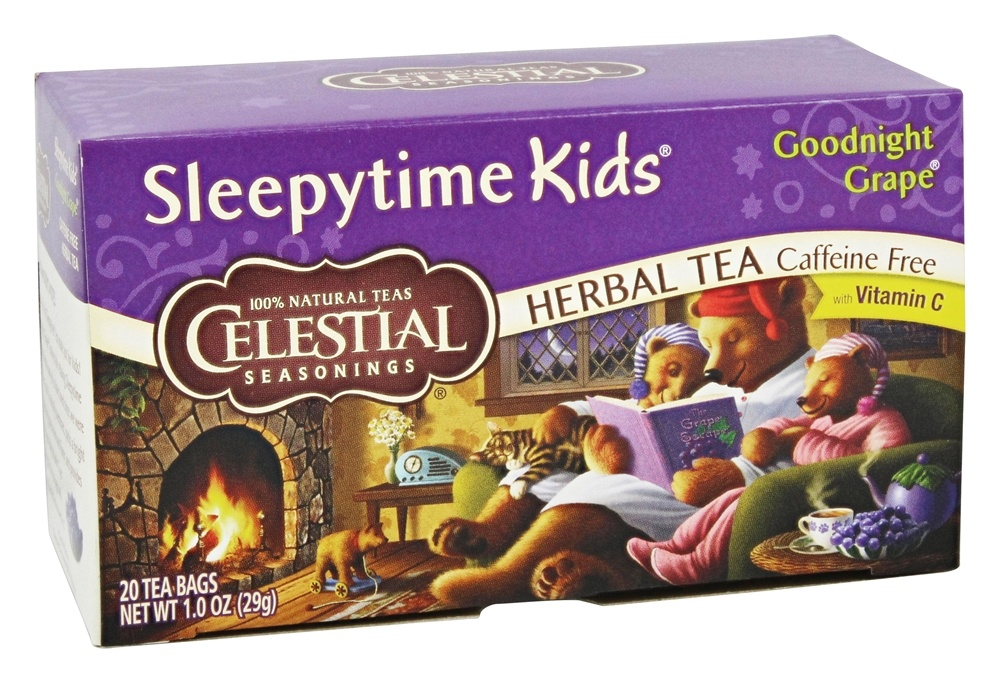 Celestial Seasonings - Sleepytime Kids Herbal Tea Caffeine Free Goodnight Grape - 20 Tea Bags