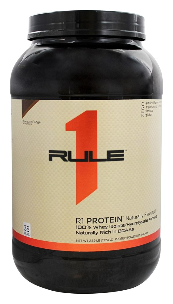 Rule One Proteins - R1 Protein 100% Whey Isolate/Hydrolysate Formula 38 Servings Chocolate Fudge - 2.69 lbs.