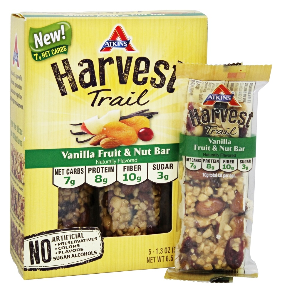 Atkins Nutritionals Inc. - Harvest Trail Bar Vanilla Fruit & Nut Bar - 5 Bars