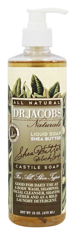 Dr. Jacobs Naturals - All Natural Liquid Castile Soap Shea Butter - 16 oz.