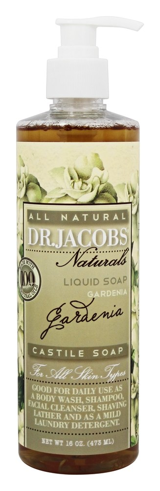 Dr. Jacobs Naturals - All Natural Liquid Castile Soap Gardenia - 16 oz.