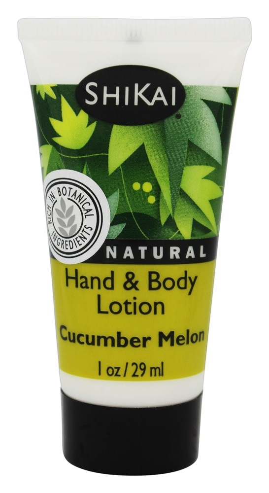 Shikai - Natural Hand & Body Lotion Cucumber Melon - 1 oz.