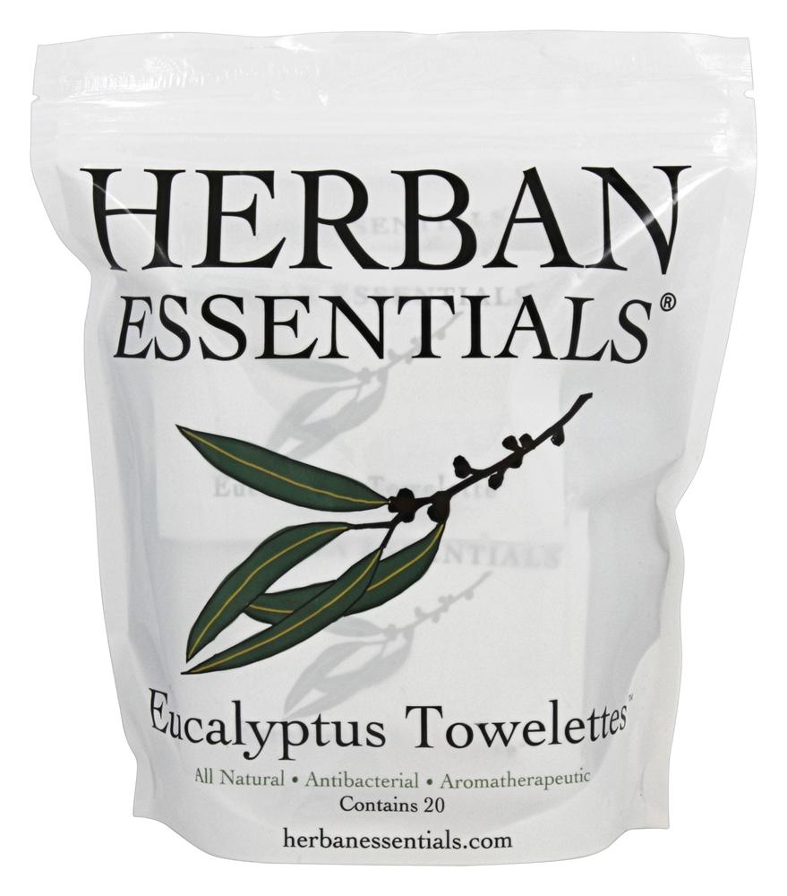 Herban Essentials - Towelettes Eucalyptus - 20 Count