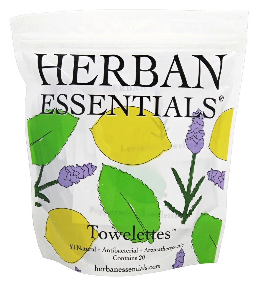 Herban Essentials - Towelettes Mixed - 20 Count