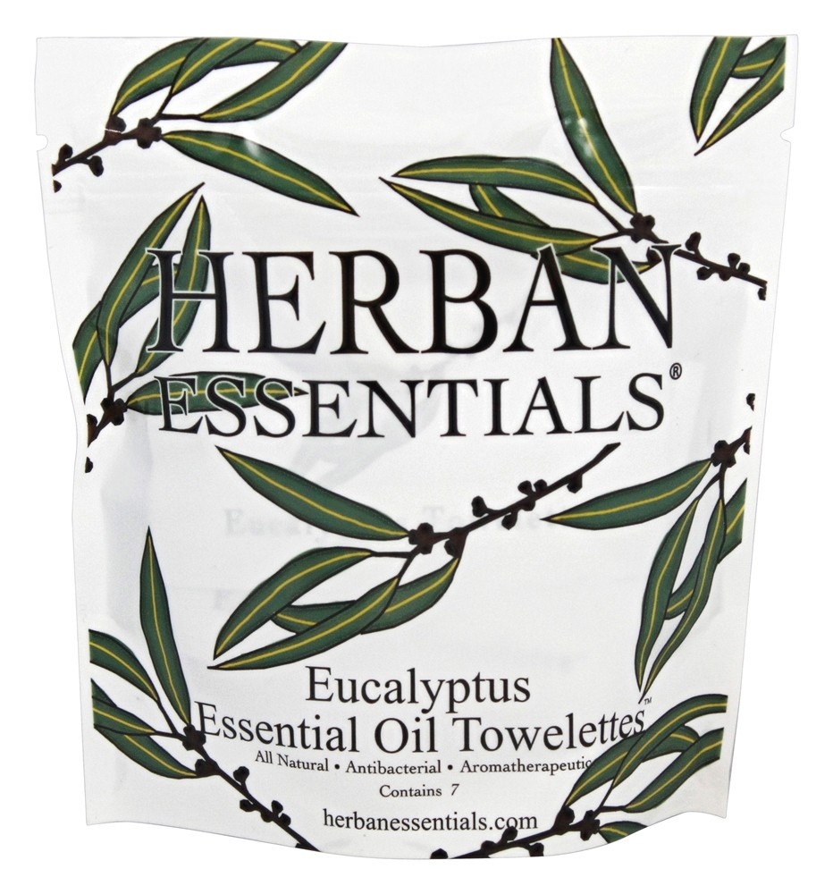 Herban Essentials - Towelettes Essential Oil Eucalyptus - 7 Count