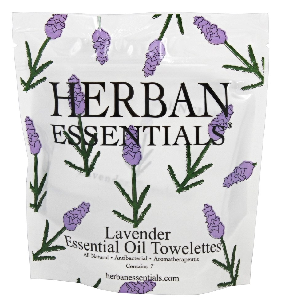 Herban Essentials - Towelettes Essential Oil Lavender - 7 Count