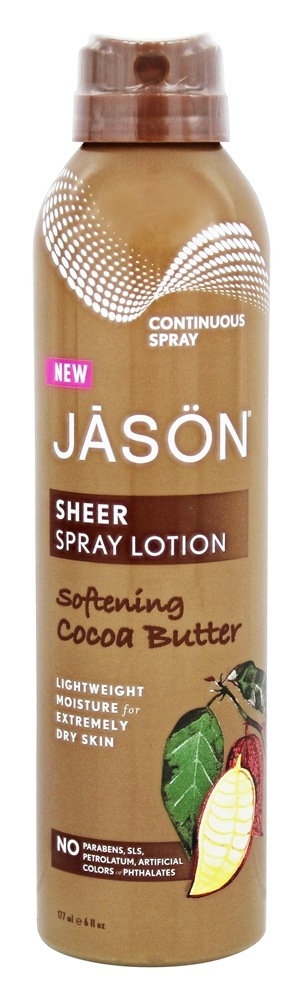 JASON Natural Products - Sheer Spray Lotion Softening Cocoa Butter - 6 oz.