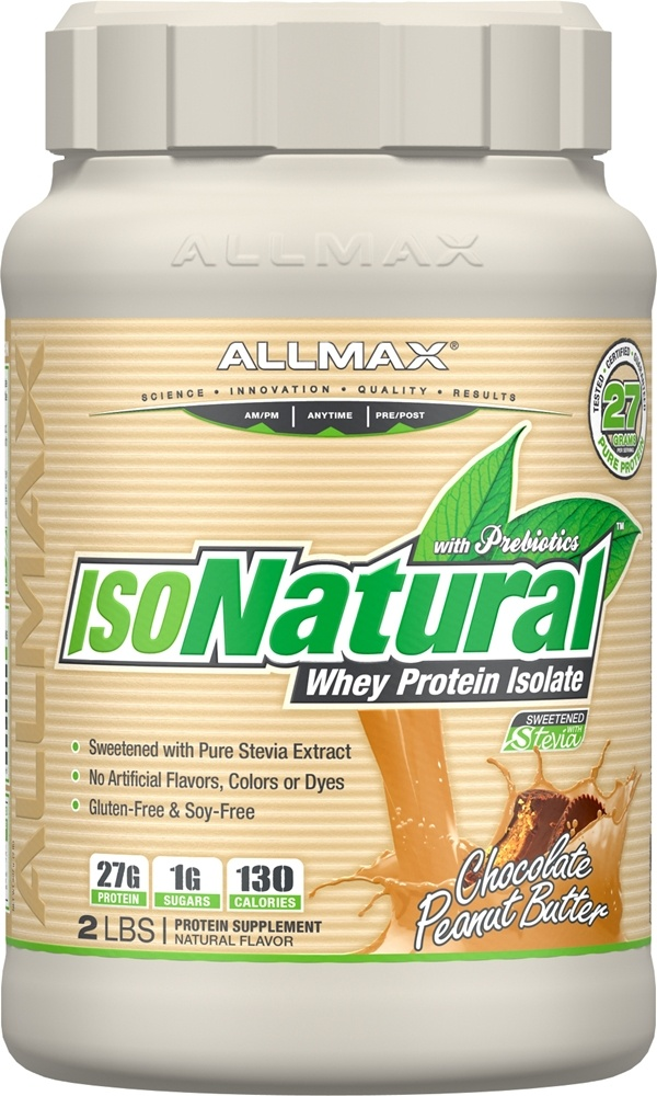 AllMax Nutrition - IsoNatural Whey Protein Isolate Chocolate Peanut Butter - 2 lbs.