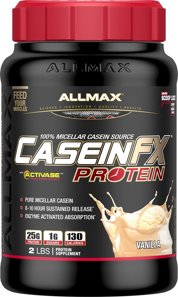 AllMax Nutrition - CaseinFX Ultra-Slow Release Protein Vanilla - 2 lbs.