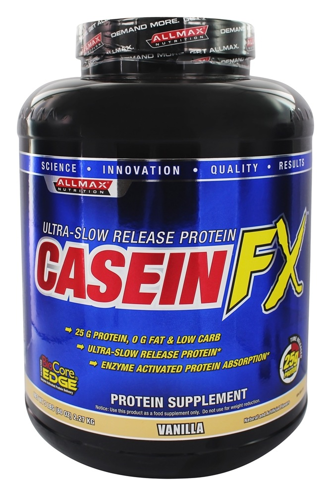 AllMax Nutrition - CaseinFX Ultra-Slow Release Protein Vanilla - 5 lbs.