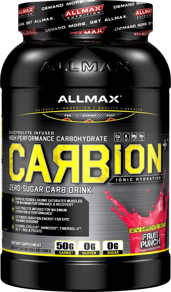 AllMax Nutrition - Carbion+ High Performance Carbohydrate Drink Fruit Punch - 2.46 lbs.