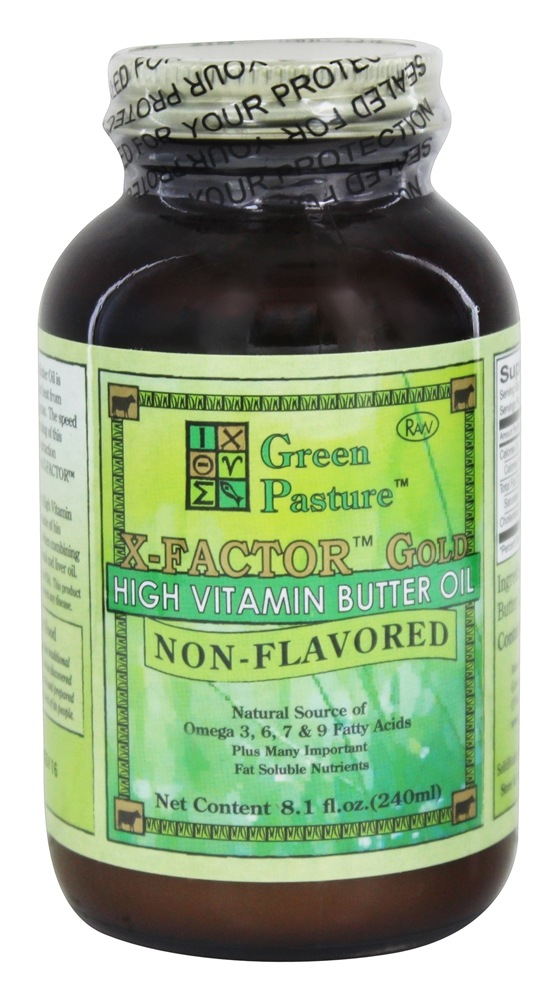 Green Pasture Products - X-Factor Gold High Vitamin Butter Oil Non-Flavored - 8.1 oz.