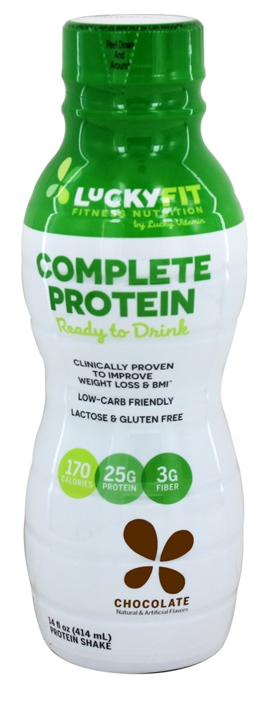 LuckyFit - Complete Protein Ready to Drink Chocolate - 14 oz.