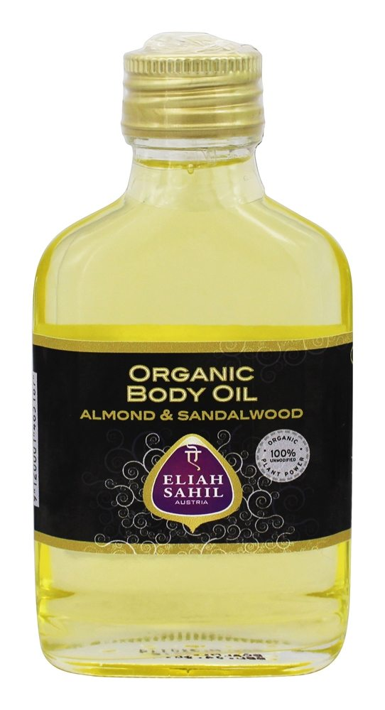 Eliah Sahil - Organic Body Oil Almond & Sandalwood - 3.4 oz.