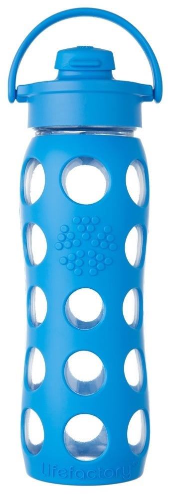 Lifefactory - Glass Bottle with Flip Cap and Silicone Sleeve Ocean - 22 oz.