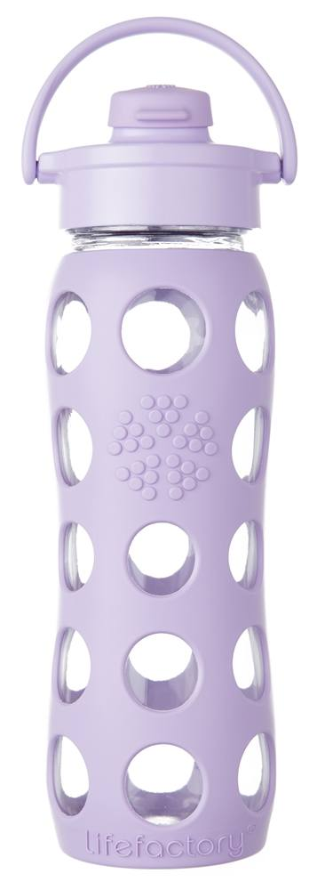 Lifefactory - Glass Bottle with Flip Cap and Silicone Sleeve Lilac - 22 oz.
