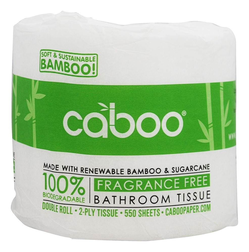 Caboo - Bamboo and Sugarcane 2-Ply Bathroom Tissue 550 Sheets - 1 Roll(s)