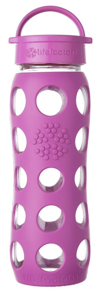 Lifefactory - Glass Bottle with Classic Cap and Silicone Sleeve Huckleberry - 22 oz.