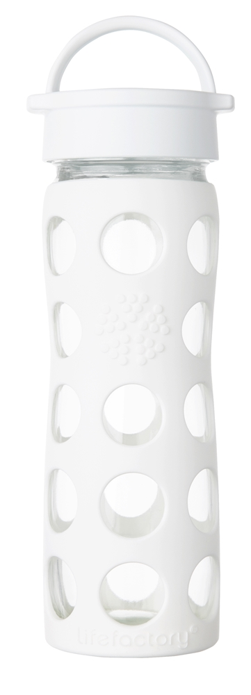 Lifefactory - Glass Bottle with Classic Cap and Silicone Sleeve Optic White - 16 oz.