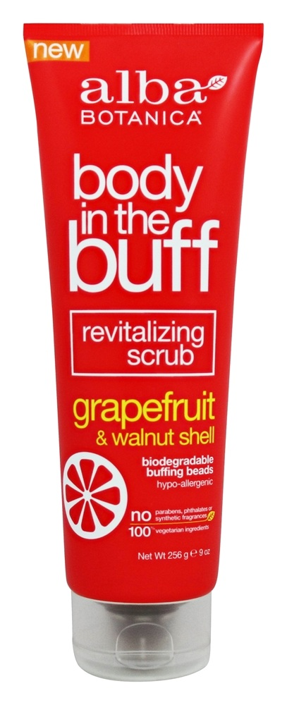 Alba Botanica - Body in the Buff Revitalizing Scrub Grapefruit & Walnut Shell - 9 oz.
