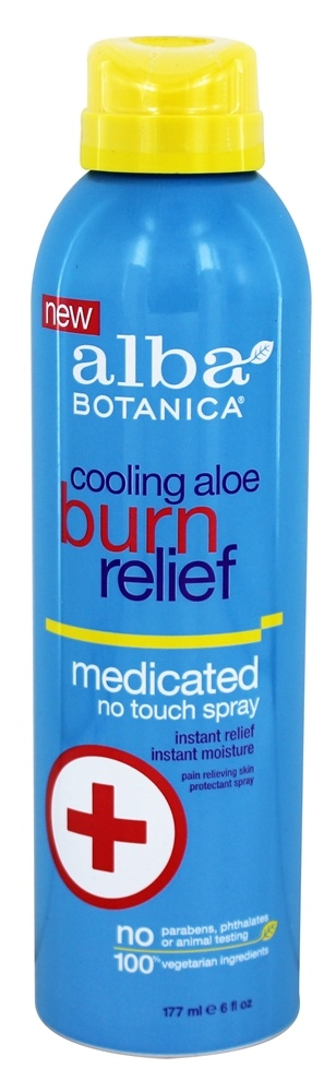 Alba Botanica - Cooling Aloe Burn Relief Spray - 6 oz.