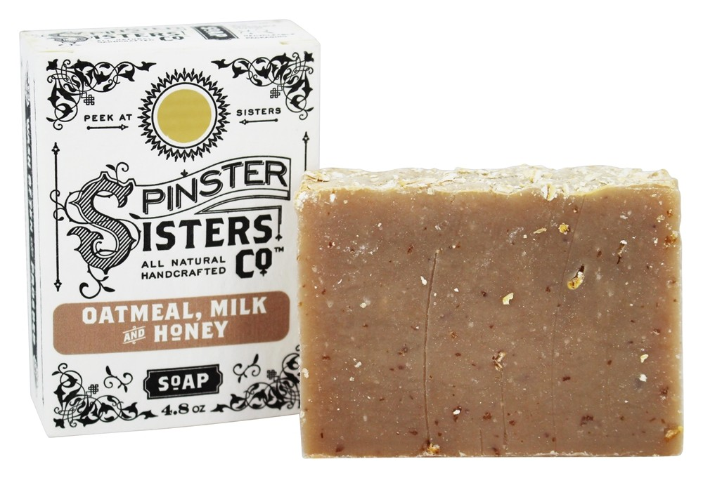 Spinster Sisters Co. - All Natural Handcrafted Bar Soap Oatmeal, Milk and Honey - 4.8 oz.