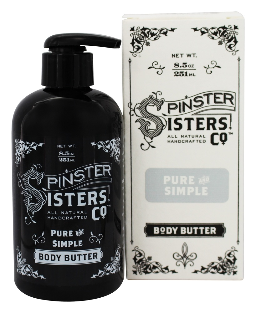 Spinster Sisters Co. - All Natural Handcrafted Body Butter Pure and Simple - 8.5 oz.